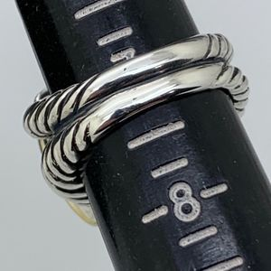 David Yurman Jewelry - David Yurman 925 18K Diamonds14mm B.Onyx Ring S7